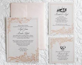 lds wedding | etsy, Wedding invitations
