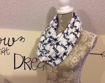 Nfl Dallas Cowboys scarf, cotton, fleece Dallas Cowboys, Dallas cowboy nfl scarf, nfl scarf, Dallas cowboys infinity scarf, Nfl scarfs, Nfl