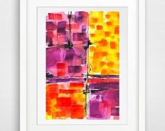Abstract Watercolor Art Print, watercolor painting, Home Decor, Wall Art, watercolor art print, Modern Art, wall hanging