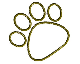 Tiger Paw Print Panther Lion Bear Animal Applique Design ~ Embroidery Designs  ~ INSTANT DOWNLOAD ~ 4x4, 5x7 and 6x10 Sizes