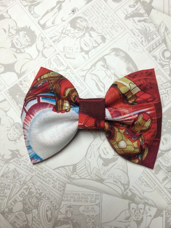 iron man bow tie by cutiebowboutique on etsy. Black Bedroom Furniture Sets. Home Design Ideas