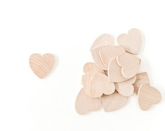 100 Unfinished Wood Hearts | Wedding Guest Book | Wedding Favors | Unfinished Wood Hearts | DIY Wooden Hearts