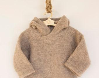 Merino wool jumper/ Baby woolen jumper/ Timberman's hoody/601FW15