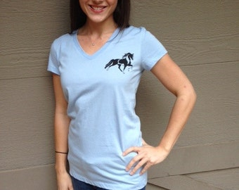 Prancing Paint Horse V-Neck Tee