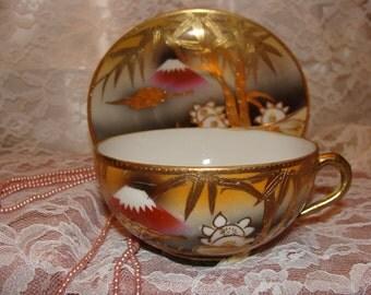 Japanese Iterpretive Tea Cup & Saucer