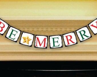 Christmas Decor - Merry Christmas Banner - Christmas Photo Prop - Rustic Christmas Sign - Christmas Bunting - Christmas Garland