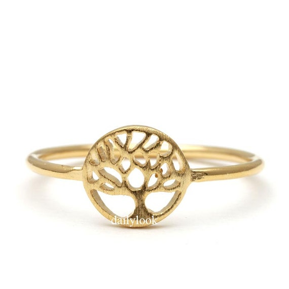 tree ring tree jewelry gold ring autumn ring autumn