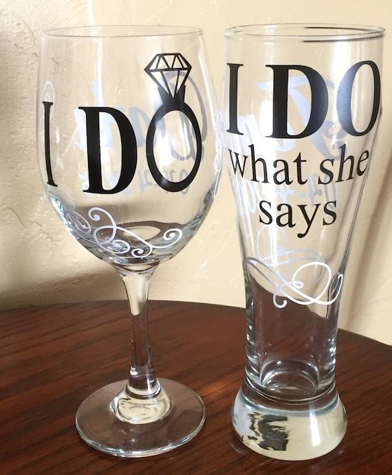 Wedding Themed Wine Glass Painting