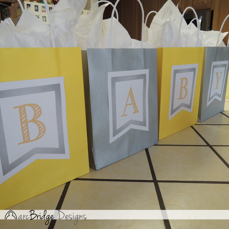 smokey yellow baby shower bag game digital download