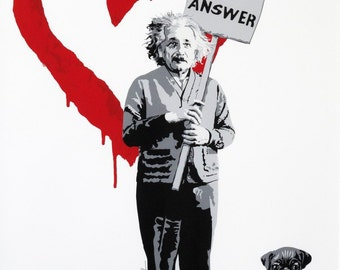 A2/A3 Digital Canvas Prints Einstein love is answer great figure art prints modern Giclee print