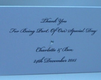 Handmade Personalised Wedding Place Cards Beautiful Can Be Adapted to your Wedding Colour Theme
