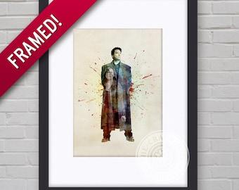 0081F Torchwood Captain Jack Framed Print Wallart Multiple Sizes