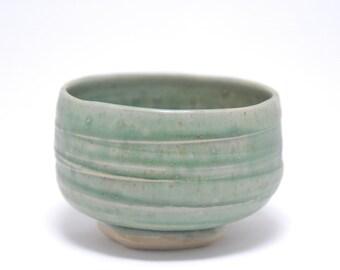 Turquoise Chawan/Tea Bowl - #49