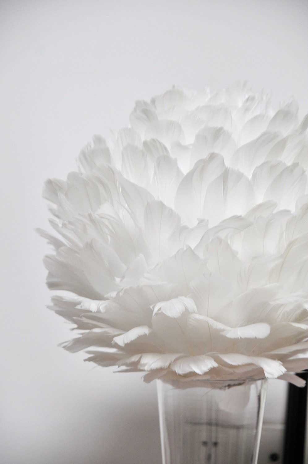 Centerpiece balls large feather ball inch by