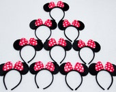 Reserve for Ms.Veronica Redbow Minnie Mouse and Mickey Mouse Ears_ for Picture, Dress up, Theme Birthday Party