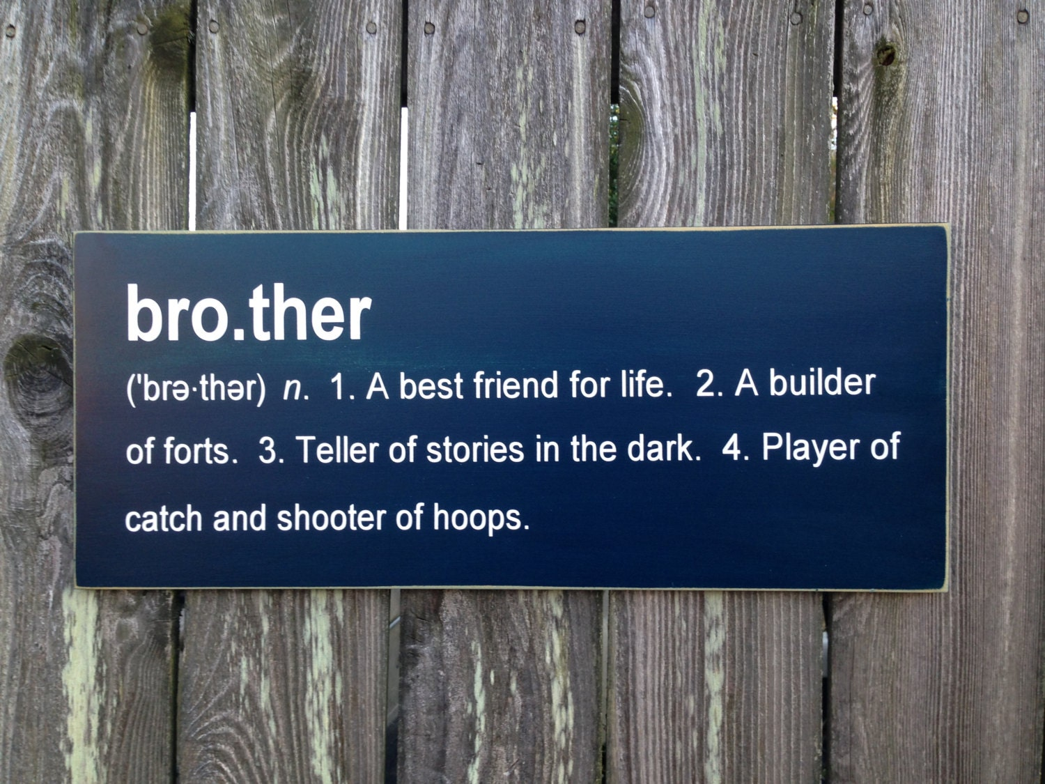Brother definition sibling plaque sign - Plaque de finition ...