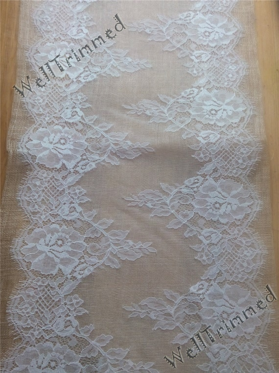 10ft lace table runner 13 wide wedding table runner for 10 foot table runner