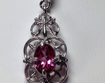 Pink Mystic Topaz pendant and necklace