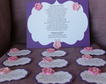 Wedding Candle Gift With Poem : ... Bridal candle basket Poem and Tags.Sentimental wedding gift. Shower