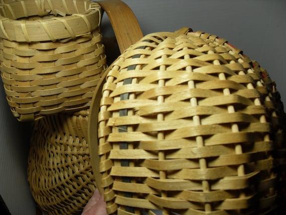 Old Handmade Baskets : Vintage handmade baskets woven by gingerslittlegems