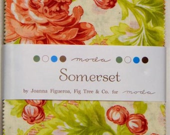"Somerset Charm Pack - 5"" Squares - Fig Tree Quilts - Moda Charm Pack -  Charm Packs - IN STOCK"