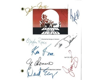 Dawn of the Dead Movie Script Signed Screenplay Autographed: George Romero, David Emge, Ken Foree, Gaylen Ross, David Early, Jim Baffico