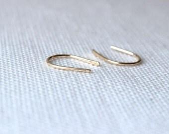 Horseshoe Earring | Horse Shoe Jewelry | Cartilage Earring | U Shaped Earrings [Smithe Earrings]