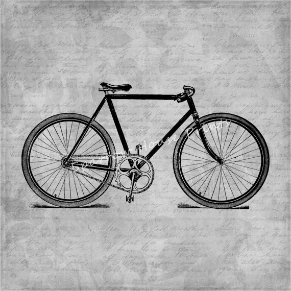 Items similar to antique bicycle wall art bike home decor for Bicycle decorations home