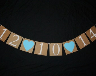 Save the date banner- save the date garland- photo prop- photography prop- engagement banner- engagement garland- wedding banner