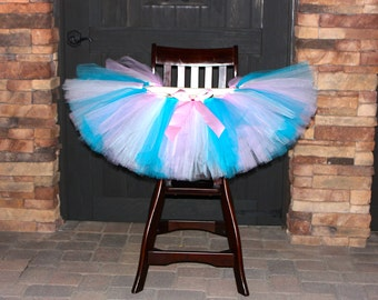 Any Color High Chair Tutu, High Chair Decoration, First Birthday Party, Tutus for Highchairs, Cake Smash, Cotton Candy High Chair Tutu