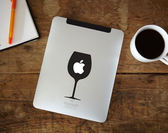 Wine Glass iPad Decal