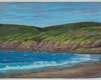 Jalama Beach Original seascape painting