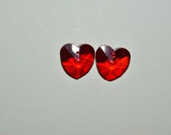 14 mm Ruby Crystal Heart Pendant (2043086)