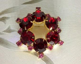 Ruby Red Brooch