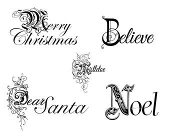 Christmas word art. Digital download