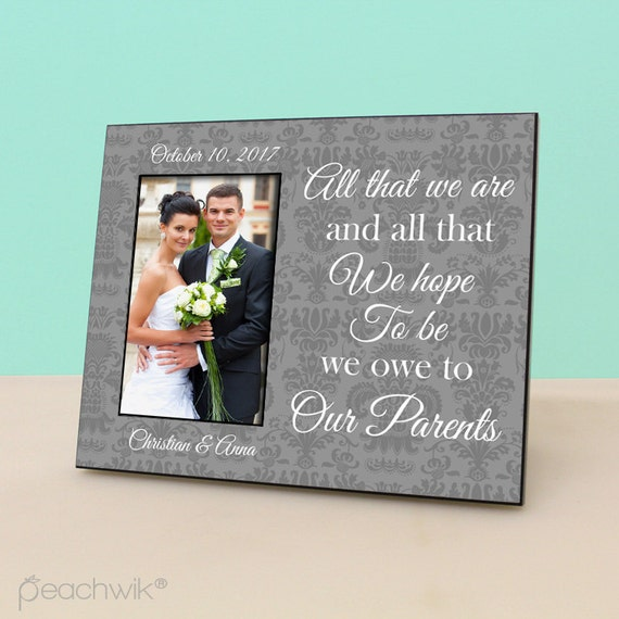 Unique Parent Wedding Gift Ideas: Items Similar To Parents Wedding Gift- Personalized