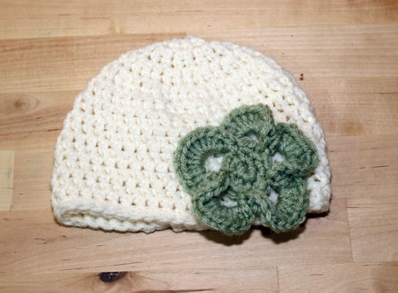 Infant Hat With Flower
