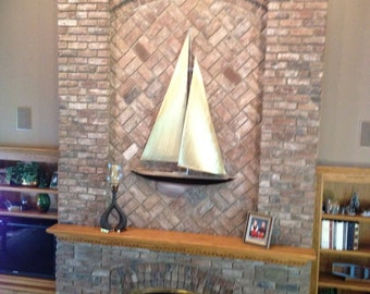 Custom Sailboat Sculpture