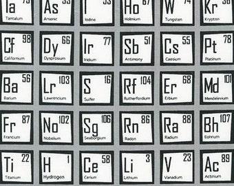 Science Fair - Periodic Table in Grey - Illustration Ink - Robert Kaufman (AIB-14736-12)
