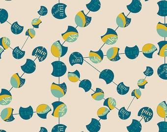 SALE Utopia - Chatter Pods Menta - Frances Newcombe - Art Gallery Fabrics (UT-24505)