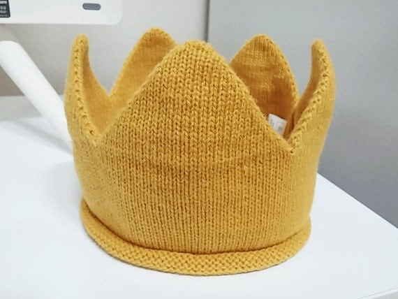 Newborn Baby Toddler Kids Knit Crown Hat Headband Head Pieces