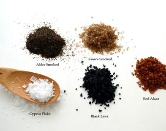 SEA SALTS Gourmet Hawaiian, Cyprus Flake and Smoked - Certified Organic & Kosher