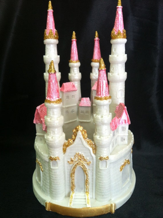 fairy castle wedding cake topper princess cake topper princess birthday blue silver 14093