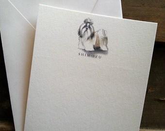 Shih Tzu Dog Note Card Set