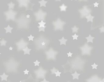 Photo Backdrop - Star Bokeh - Silver - Bokeh stars printed photography backdrop - Christmas Prom or dance photo backdrop - 5ft x 5ft - 6ft-