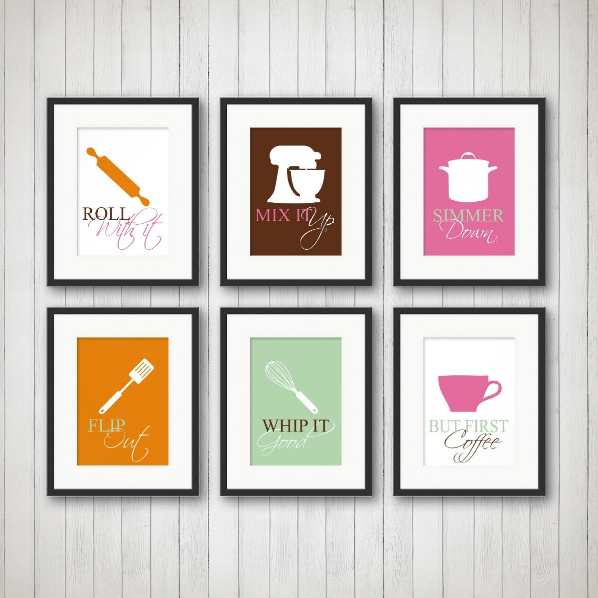 Kitchen decor kitchen wall art kitchen print kitchen art for Kitchen wall art sets