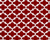 PREMIER PRINTS FABRIC - Fynn Moroccan Lipstick Red and White - Home Decor Fabric By The Yard