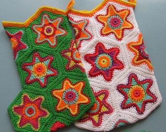 Crochet Pattern-Crochet СHRISTMAS STOCKING with STAR Ornament-pdf  file-#17 by ASmartPattern
