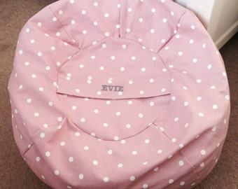 Personalised Small Bean Bag Cover And Liner