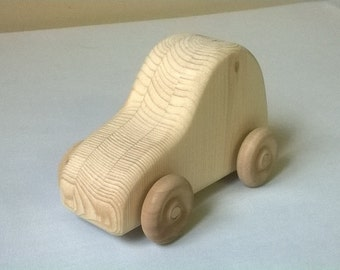 Decorate your own Push Car or use it as is.  It's all natural, unfinished, wooden, durable, and inspires the imagination.